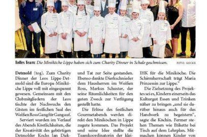 Charity Dinner – Zeitungsbericht